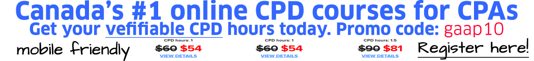 Canada's No.1 online CPD courses for CPAs